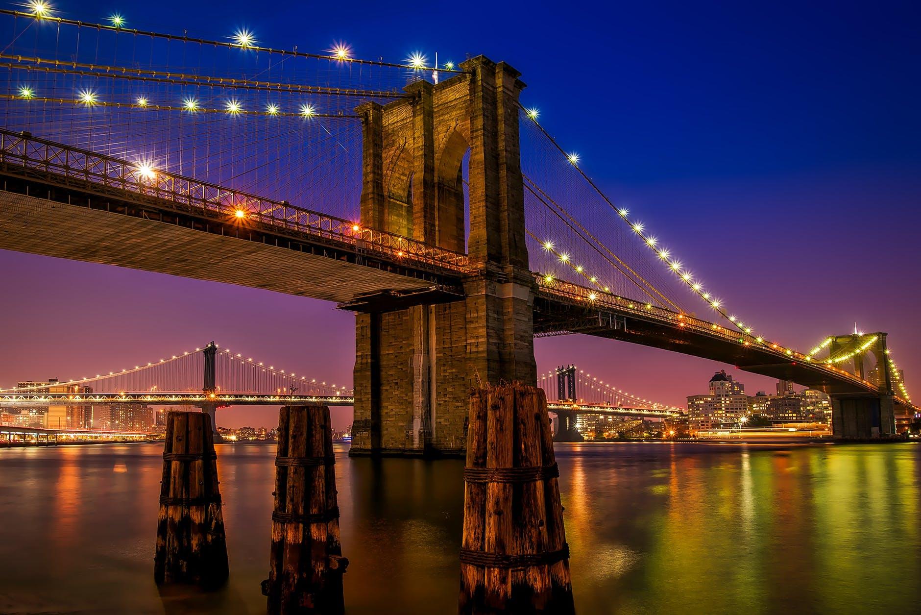 architecture bridge brooklyn bridge city
